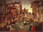 il miracolo della Croce di Gentilre Bellini e il ponte di San Lorenzo.jpg